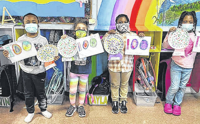 Courtesy photo                                 State Line Children's World helped its students participate in the virtual celebration of the 100th day of school.