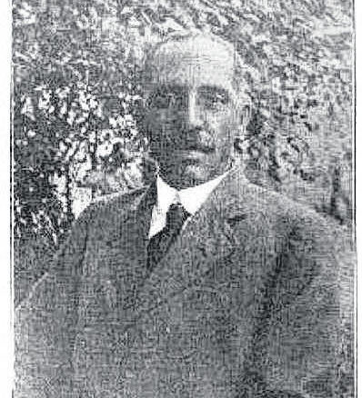 Courtesy photo                                 Walter Parsley Evans was born in Wilmington, but came to Laurinburg at the age of 21 and built a business on Main Street. His final resting place is located on Leisure Road in Laurinburg behind the Matthew Capel AME Zion Church.
