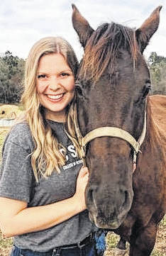 Courtesy photo                                 Alexis High will become the first graduate of UNCP's Veterinary Education Access Scholars Program, a pathway initiative formed four years ago granting a select number of biology students guaranteed acceptance into N.C. State University's College of Veterinary Medicine program.