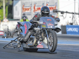 Tii Tharpe, the Top Fuel Harley NHRA world champion                                  Contributed Photo